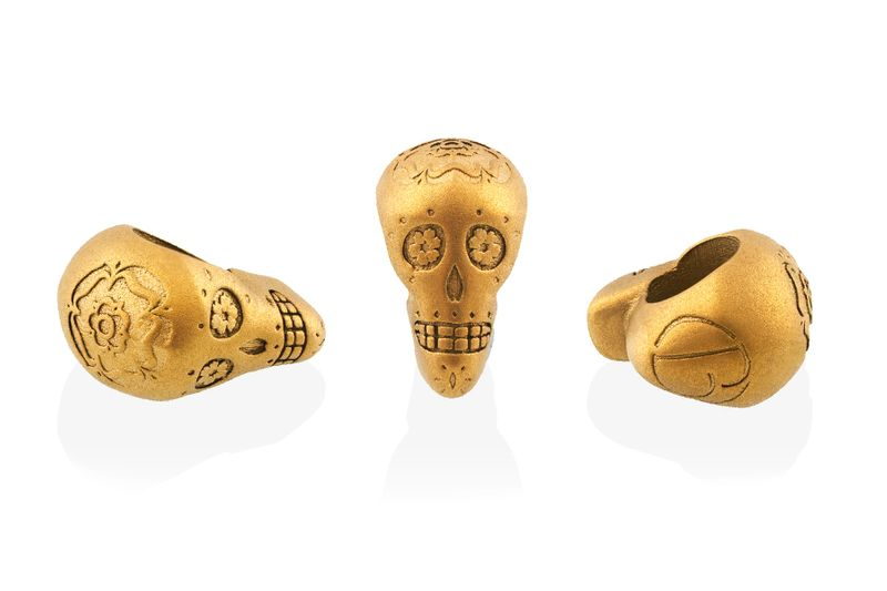 Stainless Steel Candy Skull Bead