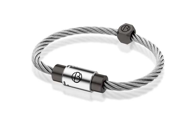 Stratus CABLE Stainless Steel Bracelet | CABLE Stainless Steel Bracelets | Bailey of Sheffield