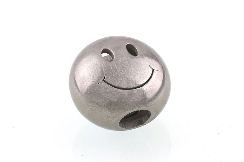 Stainless Steel Big Smiley | Bracelet Beads | Bailey of Sheffield