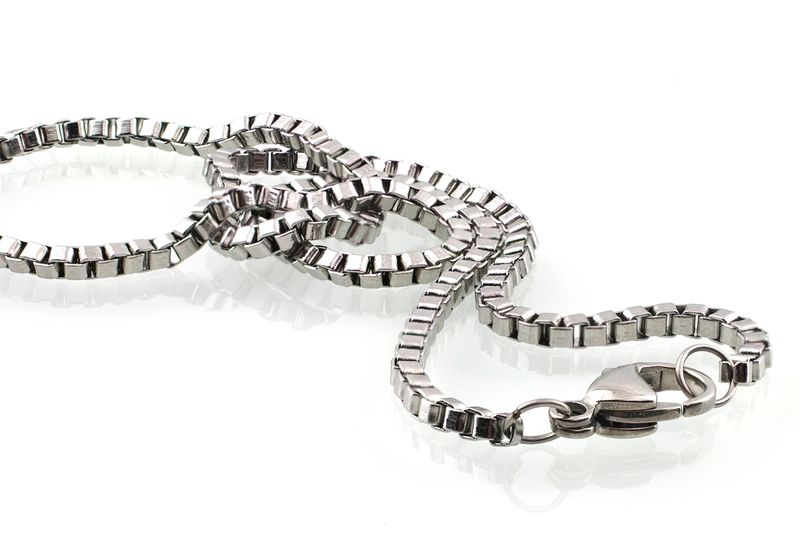 Big Smiley Stainless Steel Necklace
